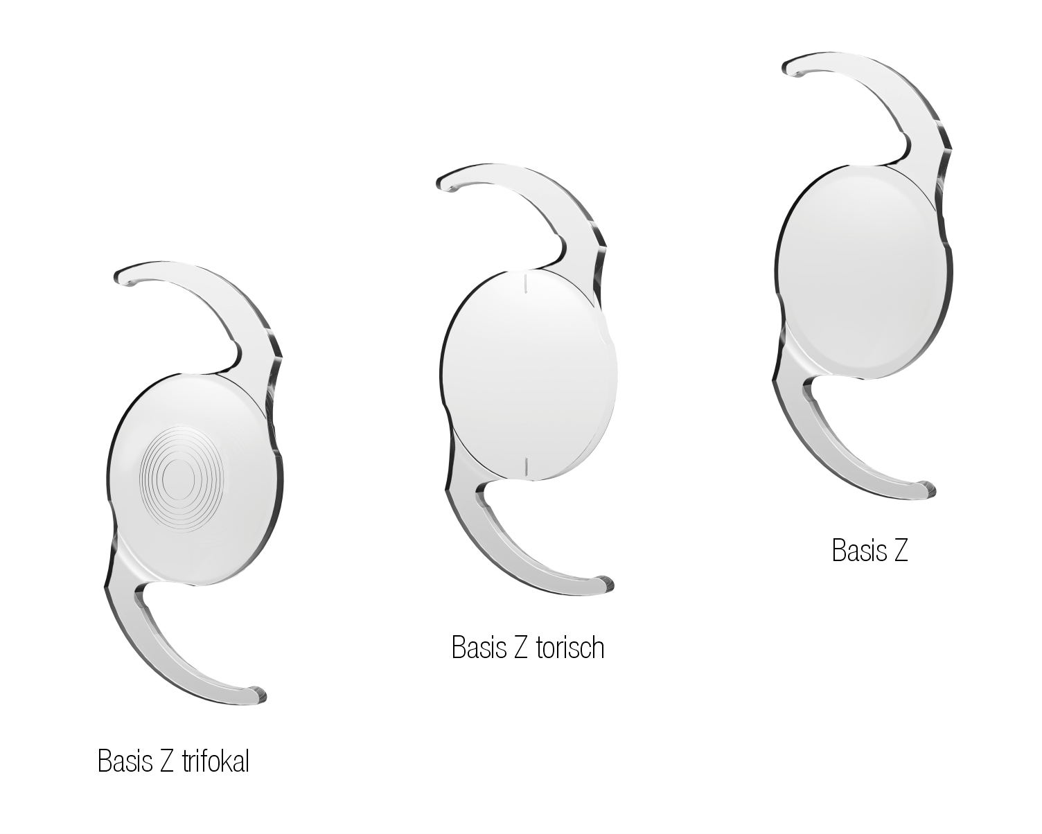 Basis Linsen mit verschiedenen Optiken die 1stQ anbietet