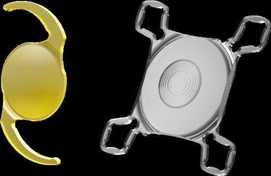 Vergrößerte Ansicht des Zweilinsensystems bestehend aus Basislinse und AddOn Linse