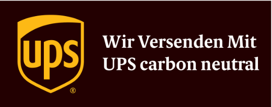 Wir versenden mit UPS carbon neutral - Logo