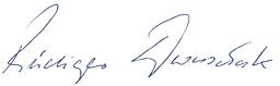 the signature of Mr Dworschak