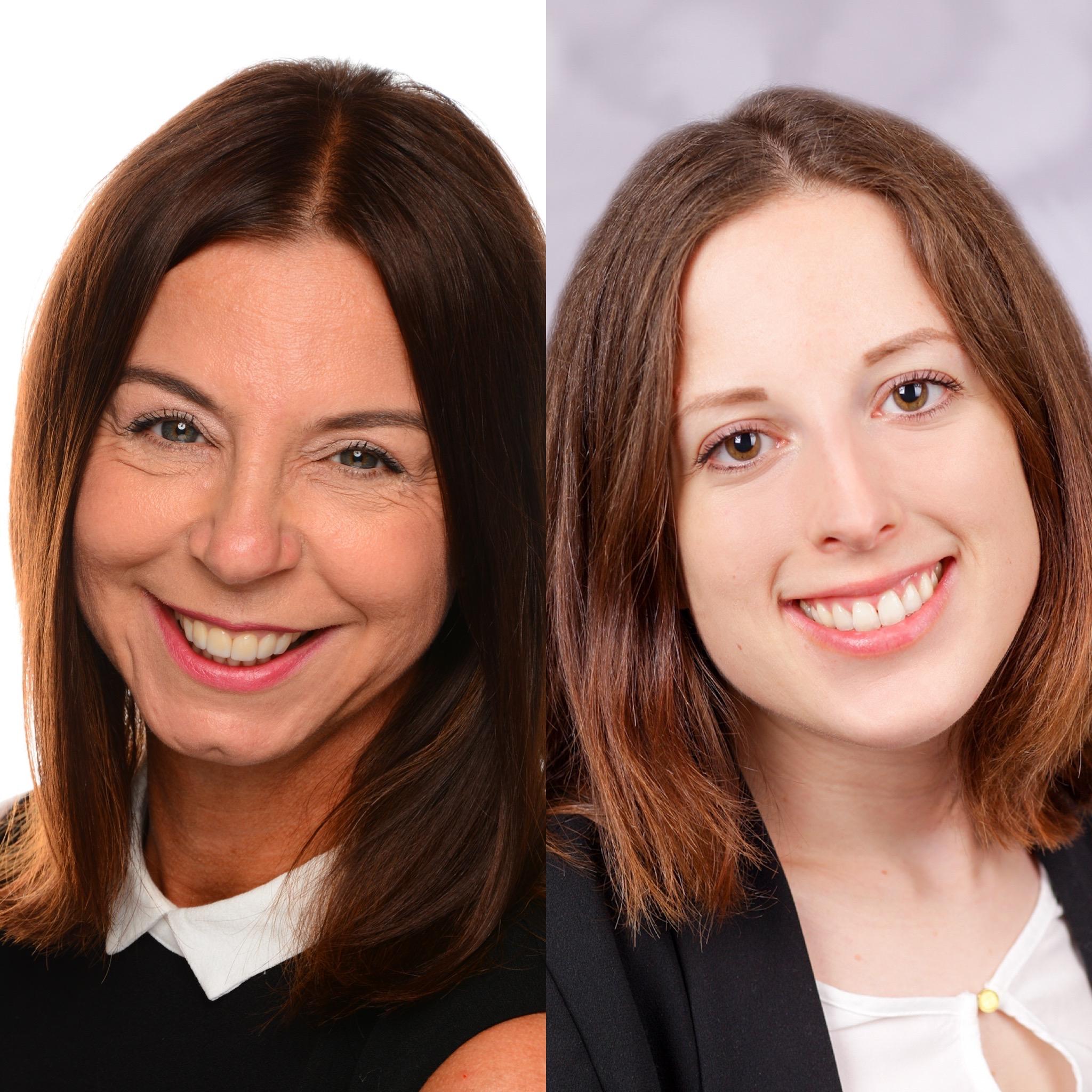 Beate Trus (links), ist nun für den deutschlandweiten Vertrieb unserer IOL und Non-IOL Produkte verantwortlich und Nadine Siefert (rechts), neue Medizinisch-Optische Spezialistin